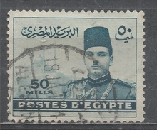 Egypt 1939, Scott #236 King Farouk And Pyramids (U) - Égypte