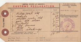 53468- US CUSTOM DECLARATION, PARCEL TRANSPORTATION TICKET, DOUANE, 1948, USA - Vervoerbewijzen
