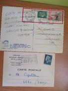 MARIANNE De Cheffer 2 Cp 1 De 30c+ Tp 0.50 Flamme Kourou Spatiale De Guyane Pour Allemagne Ou Suisse Ou Autriche Et 1 De - Postmark Collection (Covers)