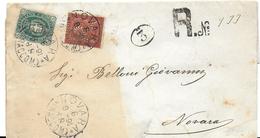 STORIA POSTALE REGNO 1896 BUSTA DA CREMONA A CA DE' MARI ANNULLI OTTAGONALI E TONDO RIQUADRATI - 1878-00 Umberto I