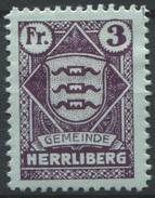 1552 - HERRLIBERG - Fiskalmarke - Fiscaux