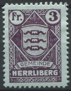 1552 - HERRLIBERG - Fiskalmarke