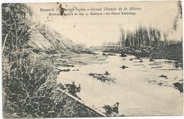 Grand Chemin De La Siberie Le Fleuve Kemtchug Circulee En 1910 Carte Rare - Russland