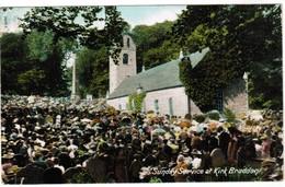 Sunday Service At Kirk Braddan (pk32066) - Isle Of Man