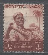 Egypt 1954, Scott #368 Farmer (U) - Égypte