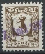 1559 - MÄNNEDORF - Fiskalmarke - Steuermarken