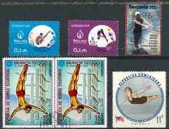 Plongeon  Lot 09 ; 6 Timbres Azerbaidjan Tanzanie Guinée Dominique / Sport Jeux Olympiques