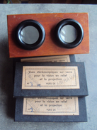 Lot 50 Photos Sur Plaque De Verre + Visionneuses Stéréoscope Unis France - Stereoscopes - Side-by-side Viewers