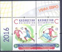 2016. Kazakhstan, EURO 2016, UEFA European Championship, 2v,  Mint/** - Kazakhstan