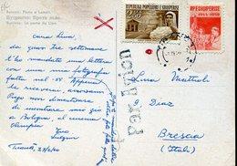 16533 Albania, Circuled Card 1959 From Tirana To Italy - Albanien