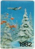 Calendrier 1982. Avion. Aéroflot, Soviet Airlines. - Kalenders