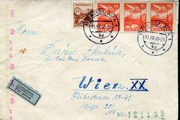 16535 Slovensko, Circuled Cover 1942 From Bratislava To Wien - Briefe U. Dokumente