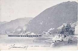 VAPEUR(S) SUR LE LAC LEMAN - LE ?? A VILLENEUVE  - DOS UNIQUE - 19.08.1908 -TTB - VD Vaud