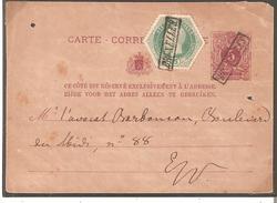 CP N° 10 + T.TELEGR. 4 En EXPRES - Annulés Par GRIFFE Encad. BRUXELLES. RR. - Stamped Stationery