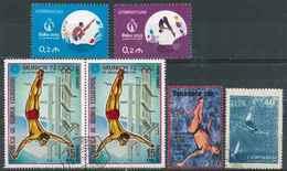 Plongeon  Lot 08 ; 6 Timbres Azerbaidjan Tanzanie Guinée URSS / Sport Jeux Olympiques