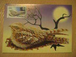 OWL HIBOU OWLS Bucharest 1998 Maxi Maximum Card Romania - Owls