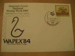 SWAN SWANS Perth 1981 Cancel Postal Stationery Cover Australia