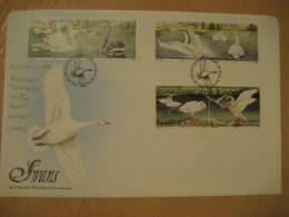 WHOOPER TROMPETE MUTE BLACK BERWICK SWAN SWANS Douglas 1981 FDC Cancel Cover MAN