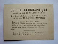 """51-chromo  Département De La Marne - Publicité """"LE FIL GEOGRAPHIQUE"""" - Artis Historia"""