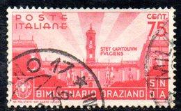 T2253 - REGNO 1936, Sassone N. 402. Orazio - 1900-44 Vittorio Emanuele III