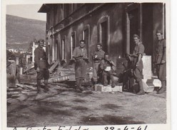 PORTO EDDA - SARANDA - SANTI QUARANDA -. ALBANIA - SOLDATI NEL 1941 - PICCOLA FOTO - Lieux