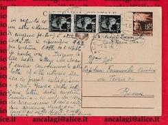 FL2567 - STORIA POSTALE - I 36 Giorni Del RE DI MAGGIO, Umberto II Di Savoia - Cartolina Postale Viagg. L'1.6.1946 - Storia Postale