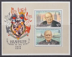 Falkland Islands 1974 Sir Winston Churchill M/s  ** Mnh (34143) - Falklandeilanden