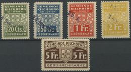 1585 - KILCHBERG - Fiskalmarken - Fiscaux
