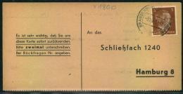 1942, Liebesgabenpaket Empfangsbestätigung Ab BRANDENBURG A.D. HAVEL - Deutschland