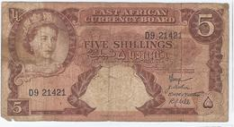 EAST AFRICA - FIVE SHILLINGS -  1958 - 1960 - Altri – Africa