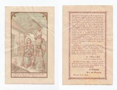 Oeuvre De La Reconstruction De L'église De Dornes, 1898, Saint Julien - Images Religieuses
