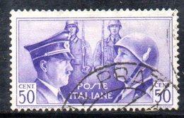 T2273 - REGNO 1941, Sassone N. 455 Usato. Hitler Mussolini - 1900-44 Vittorio Emanuele III