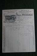Facture Ancienne, CLERMONT FERRAND - Paul MESSAGE, Denrées Coloniales, Spécialités De Cafés, Thés, Vanilles. - 1900 – 1949