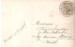 N° 81 Obl. DEPOT-RELAIS MUNSTERBILSEN Du 5/9/1912 S/CP. Vers FOREST. RARE TB. - Postmarks With Stars