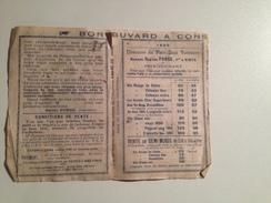 VIGNOBLE HORS CONCOURS , Mme Berhe Ponge,1899, Petit Depliant Publicitaire - Reclame