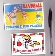 Autocollant 004, Hand, Lot De 2 Autocollants Fédération Fransaise De Handball FFH - Autocollants