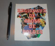 Autocollant 015, Sport Cross Régionaux De Cross De Bolbec - Autocollants