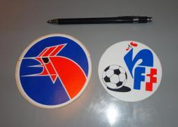 Autocollant 024, Sport Foot-Ball Football FFF Lot De 2 Autocollants - Stickers