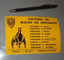 Autocollant 027, Sport Hippisme Course De Maure De Bretagne - Stickers