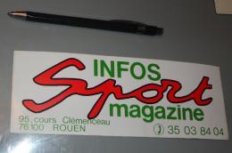 Autocollant 031, Sport Magazine Infos Sport Magazine Rouen - Autocollants