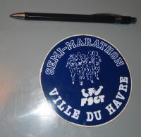 Autocollant 034, Sport Marathon Semi-Marathon De La Ville Du Havre FSCT - Stickers