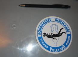 Autocollant 050, Sport Plongée Sous Marine Aquanautes Normands Fecamp Villetard Rouen - Autocollants