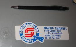 Autocollant 058, Sport Plongée Sous Marine Subchandlers Nautic Channel - Le Havre - Stickers