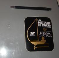 Autocollant 083, Sport Voile La Solitaire Le Figaro 20e Anniversaire, Relais & Chateaux - Aufkleber