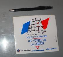 Autocollant 086, Sport Voile Rouen 1989, Les Voiles De La Liberté - Stickers
