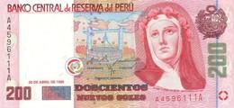 * PERU 200 NUEVOS SOLES 1995 P-162 UNC [PE162] - Peru