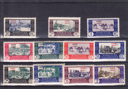 CABO JUBY 1948.SELLOS DE MARRUECOS HABILITADOS .EDIFIL Nº 162/172. COMERCIO  NUEVO SIN   CHARNELA  SES438GRANDE - Cape Juby