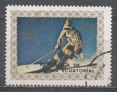 Equatorial Guinea 1976, Michel #824 Downhill Skiing (U) - Guinée Equatoriale