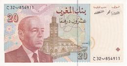 BILLETE DE MARRUECOS DE 20 DIRHAMS DEL AÑO 1996 CALIDAD EBC (XF) (BANKNOTE-BANK NOTE) - Marruecos