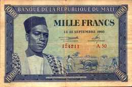 MALI 1000 FRANCS Du 22 Septembre 1960 Pick 4  RARE - Mali